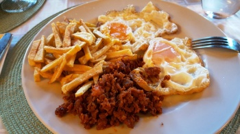 Chorizo and eggs...for dinner, Gredos